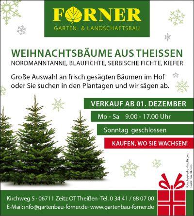 Weihnachtsbaumverkauf ab dem ersten Dezember